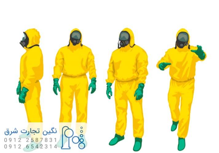 لباس آزمایشگاهی قرار گیری در معرض پلی ال